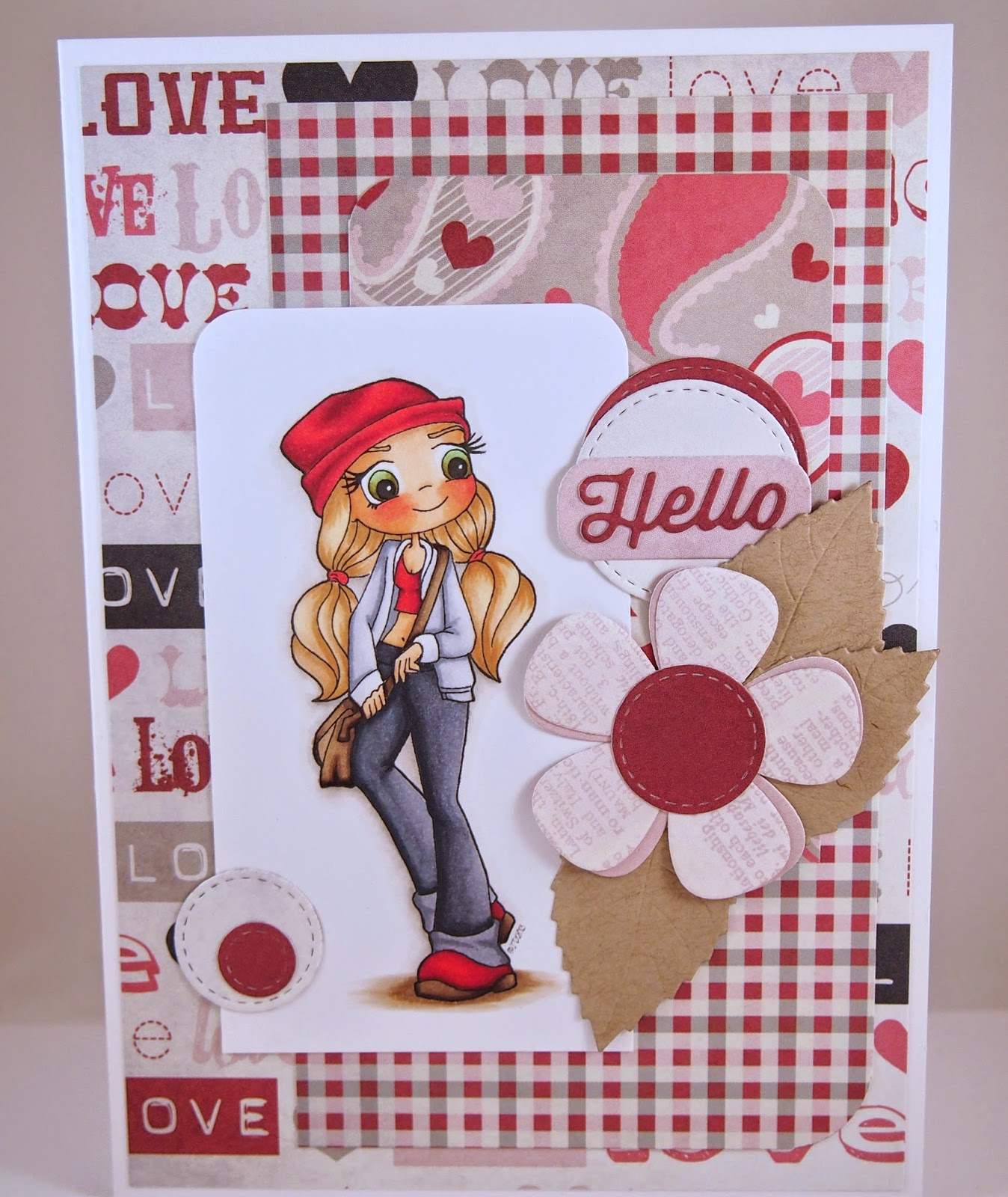 Heather's Hobbie Haven - Beanie Girl Card
