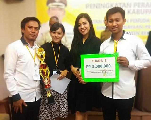 Pengurus Ekowisata Sungai Rindu Babelan Sabet Juara 1 Pemuda Pelopor Kabupaten Bekasi 2019
