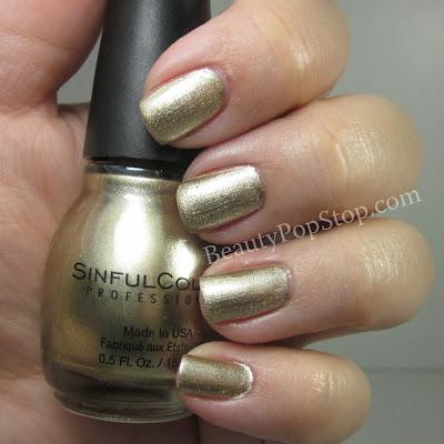 sinfulcolors mirror metallics golde medal swatch