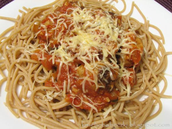 Spaghetti z klopsikami :))