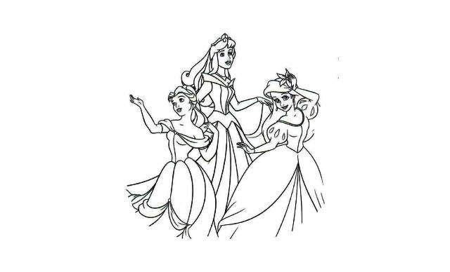 dibujos faciles de varias princesas disney para imprimir y colorear