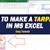 Easy Way to Make Tarpapel in MS Excel