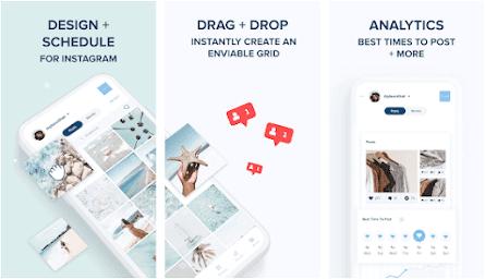 Aplikasi feed Instagram Plann +
