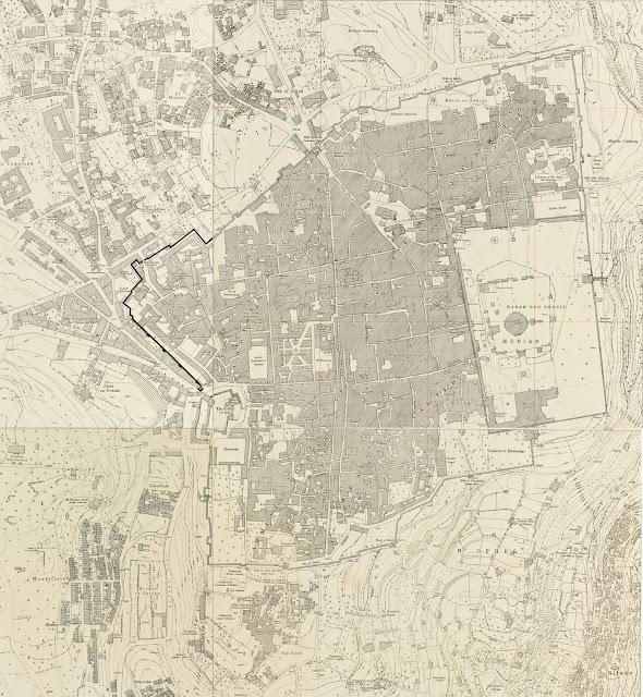 Plan de la vieille ville de Jérusalem