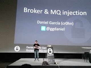 RootedCon 2016 - Daniel García aka cr0hn: Broker y MQ Injection