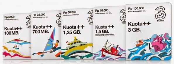 Paket Internet 3 Kuota ++ dan Cara Berlangganan