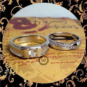 cincin emasputih perak p5477