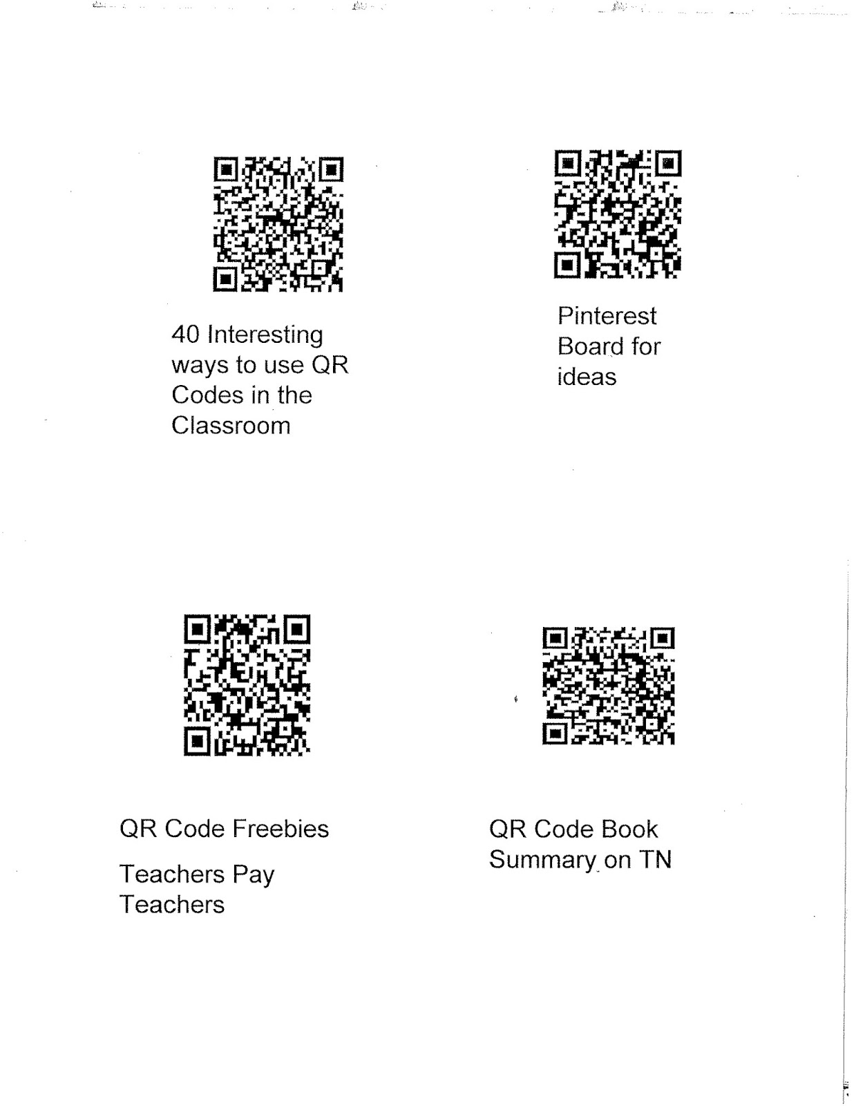 Learning In Bliss Tried It Tuesday Qr Fun