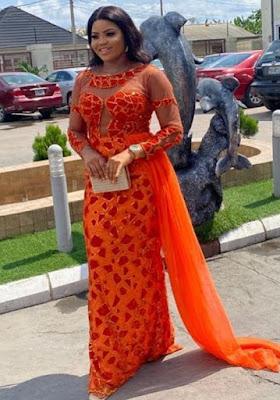 Nigerian Wedding Aso Ebi styles with lace