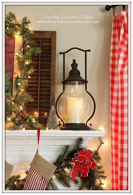 Farmhouse Christmas Mantel-Christmas-Lantern-Decor Steals- From My Front Porch To Yours