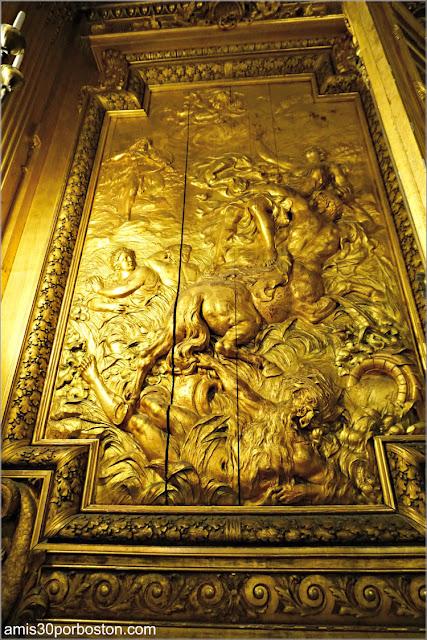 Paneles de Madera Tallados del Gran Salón de Marble House, Newport