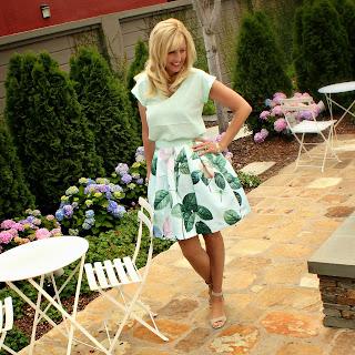 Ted Baker Rose Print Skirt
