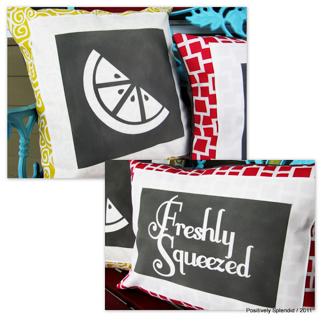 Positively Splendid Crafts: Summer Survival Guide Idea #1 (Freshly Squeezed Pillow Set