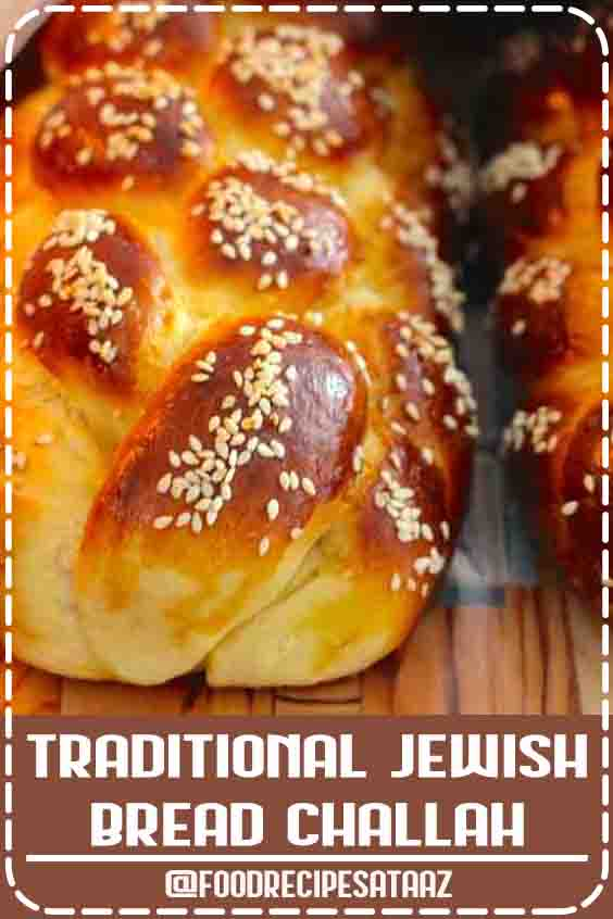 4.5 ★★★★★ Challah is a traditional Jewish bread, close to a brioche, that is often braided. It is prepared for Shabbath and Jewish holidays. #Challah #Bread #Recipe #Jewish