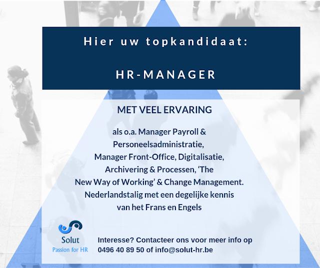 topkandidaat HR manager zoekt werk