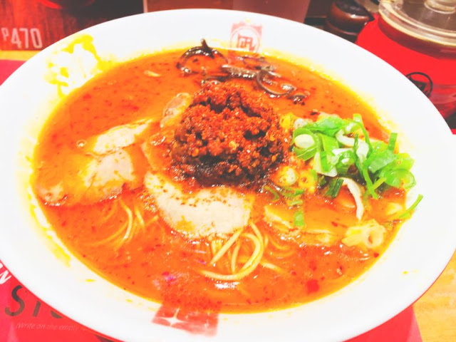 Red king at Ramen Nagi