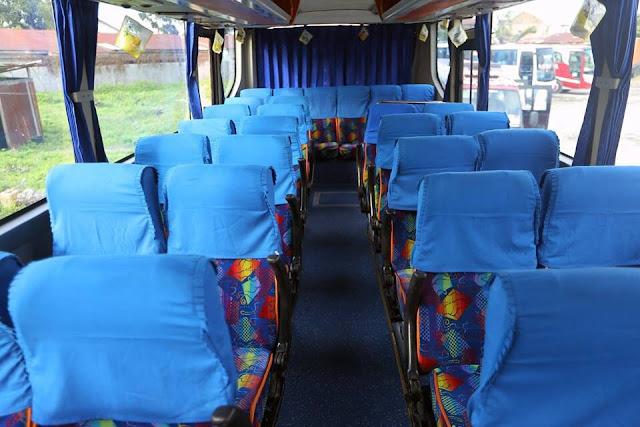 Bus Pariwisata Bersih dan Nyaman di Medan