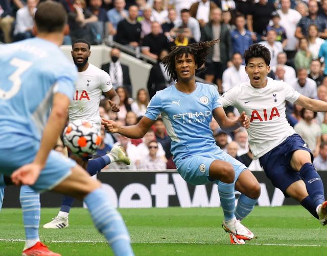 Son Heung-min scores in Tottenham win over Man City