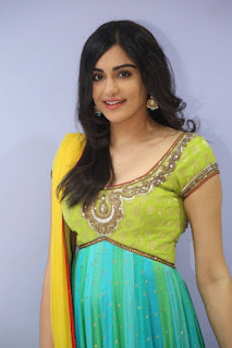 Actress Adah Sharma Stills in Salwar Kameez at Garam Movie Release Date Press Meet  0008.jpg