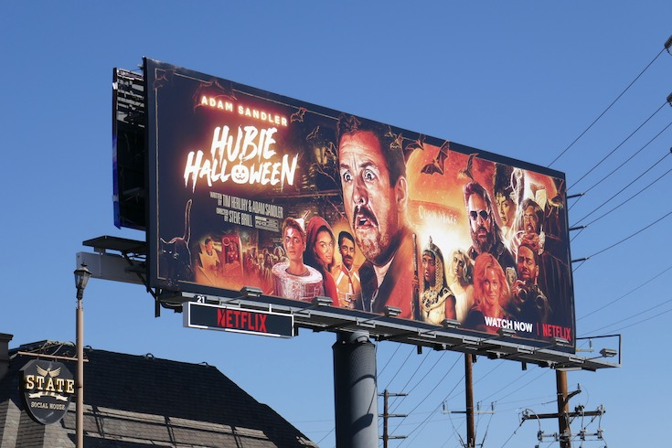 Hubie Halloween film billboard