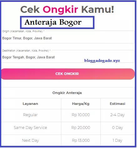 Anteraja Bogor Alamat Nomor Telepon Cara Daftar Dan Ongkir Bloggadogado