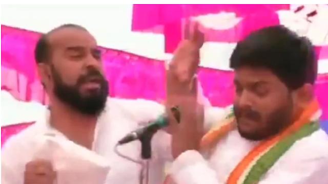 हार्दिक पटेल को रैली के दौरान एक शख्स ने मारा थप्पड़, बीजेपी पर लगाया आरोप। JNI NEWS