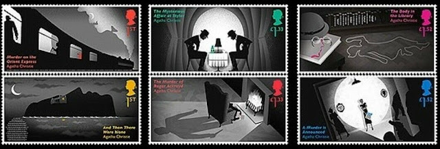 Great Britain 2016-Agatha Christie stamp set