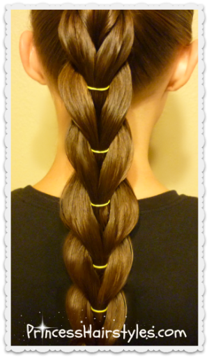 voluminous reverse pull through braid