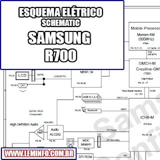 Esquema Elétrico Notebook Laptop Samsung R700 Manual de Serviço  Service Manual schematic Diagram Notebook Laptop Samsung R700    Esquematico Notebook Laptop Samsung R700