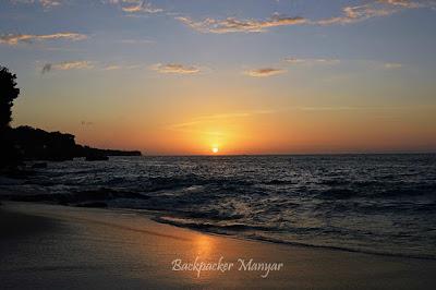 Pesona Sunset di Pantai Tegal Wangi yang tenang - Backpacker Manyar