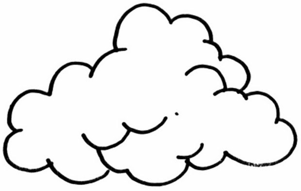 Imagens De Nuvens Para Colorir