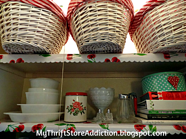 The Thrifty Way to Declutter! Part 2  mythriftstoreaddiction.blogspot.com  Vintage pantry with thrifted finds
