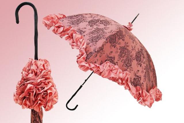 payung motif bunga mawar
