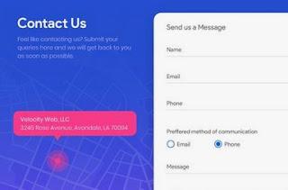 contoh halaman website yang berisikan kontak kami atau contact us yang profesional