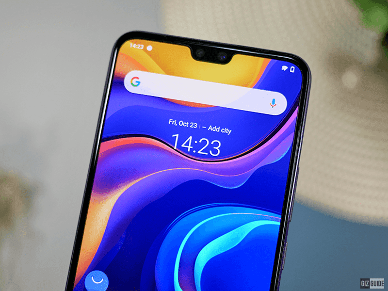 Wider notch for the selfie dual cam
