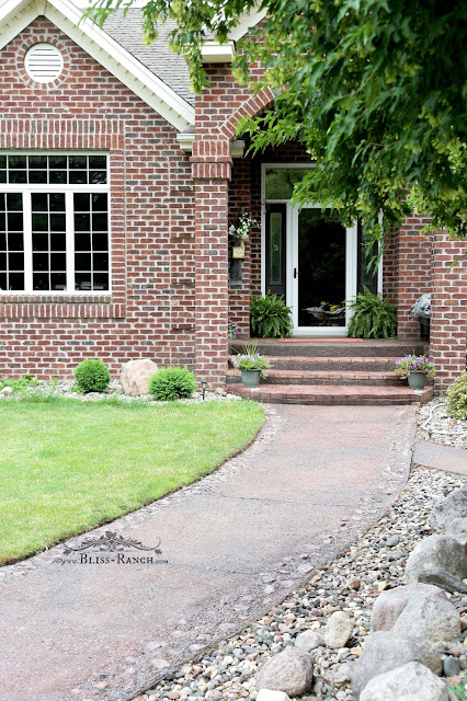 Conrete Stain Front Porch Step Walkway Bliss-Ranch.com