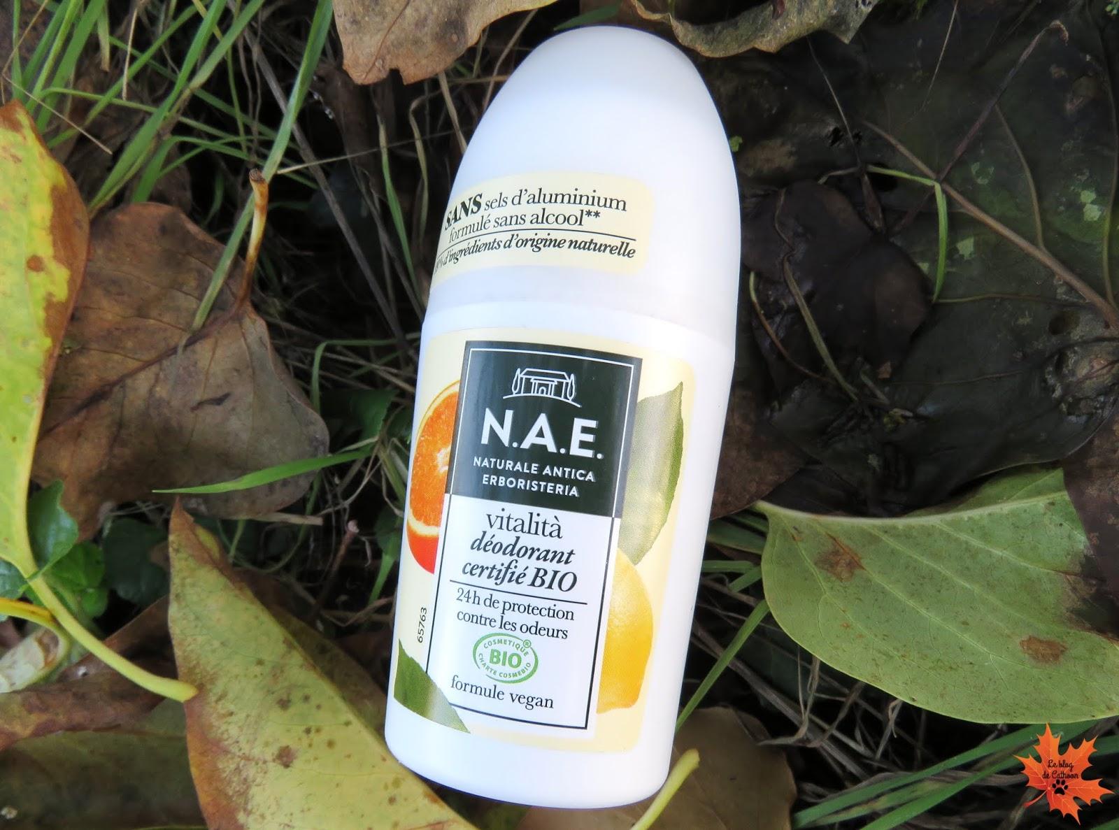 Vitalita Déodorant - Déodorant - Citron Bio et Mandarie Bio - N.A.E
