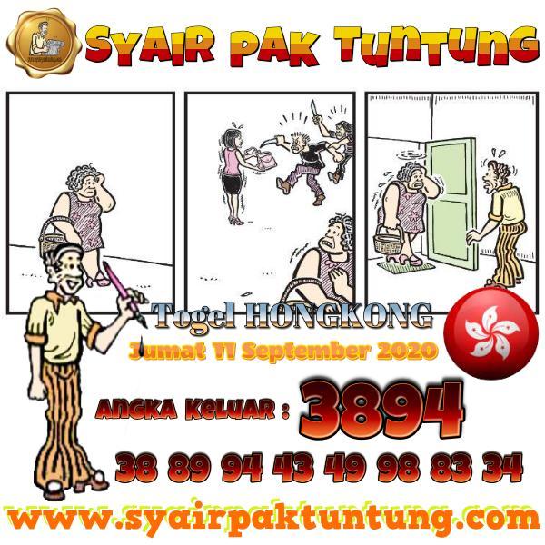 Syair HK Jumat 11 September 2020 -