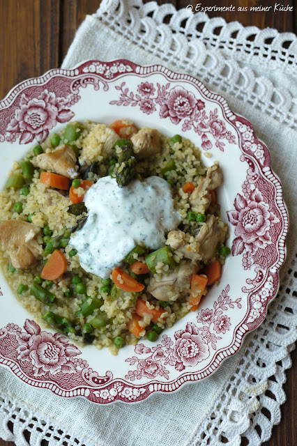 Experimente aus meiner Küche: Bulgur-Spargel-Pfanne