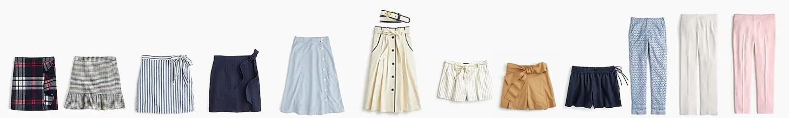 c9ef58ff53 Plaid ruffle mini skirt in double-serge wool x Ruffle mini skirt in  houndstooth x Textured wrap mini skirt in stripe x Textured wrap mini skirt  x ...