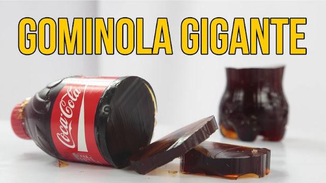 gominola, gigante, coca cola
