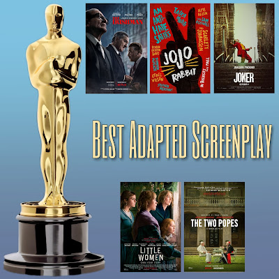 Jojo Rabbit, Joker, The Irishman, Little Women, and The Two Popes Best Adapted Screenplay Oscar Nominees
