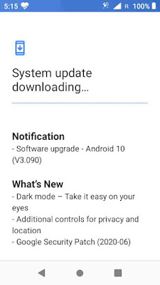 Nokia 1 Android 10 update