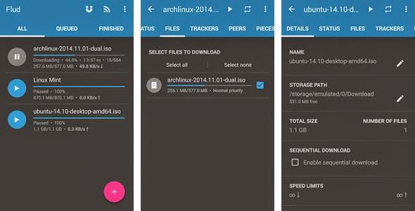 Flud, Aplikasi Torrent Terbaik Untuk Android