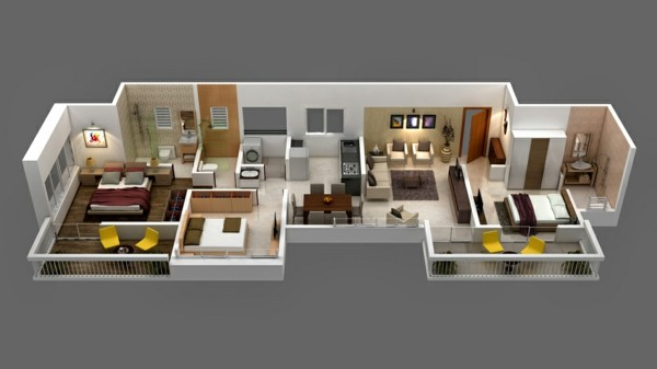 denah rumah minimalis 1 lantai ukuran 8x12