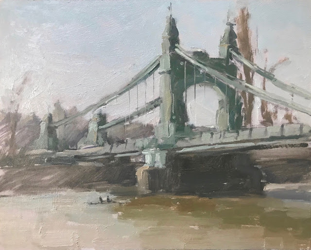 #286 'Winter, Hammersmith Bridge' 8×10″