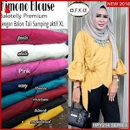 HPY214K181 Kimono Hijab Anak Blouse Murah BMGShop