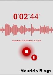 grabadora de audio para android, poco peso, largo alcance