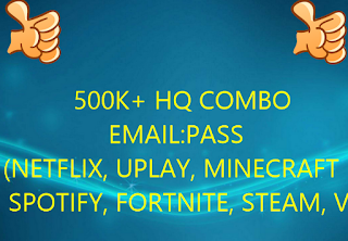 500K+ HQ COMBO EMAIL:PASS (NETFLIX, UPLAY, MINECRAFT, SPOTIFY, FORTNITE, STEAM, VPN ECT....)