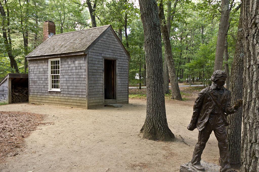 Thoreau's cabin near Walden Pond